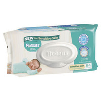 Huggies Wipes Sensitive Skin 64's