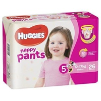Huggies Nappy Pants Walker Girl 26's (12-17kg)