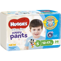 Huggies Nappy Pants Walker Boy 26's (12-17kg)