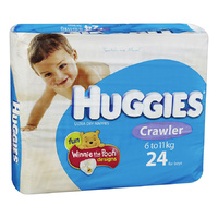 Huggies Crawler Boy 6 - 11KG 24's