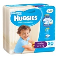 Huggies Toddler Boy 10 - 15KG 8 x 20's