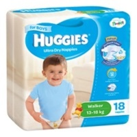 Huggies Walker Boys 13 - 18KG 18's