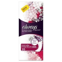 Always Discreet Liners Plus 20's