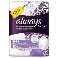 Always Discreet Incontinence Pads Large 10's