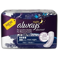 Always Discreet Maxi Night Pads 6's
