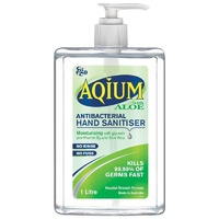 Aqium Antibacterial Hand Sanitiser with Aloe 1L