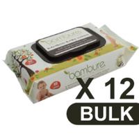 Bambure® Bamboo Baby Wipes 12 x 80's