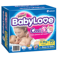 Baby Love Infant 3 - 8 KG 90's