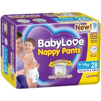 Baby Love Nappy Pants Toddler 9 - 14 KG 3 x 28's (84)