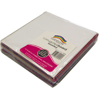 Rainbow Corrugated Board Squares Pack of 2