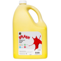 Splash Classroom Acrylic Paint Yellow 5L