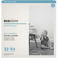 Ecostore Laundry Powder for Top & Front Loader Fragrance Free 1kg