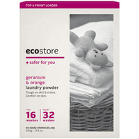 Ecostore Laundry Powder for Top & Front Loader Geranium & Orange 500g