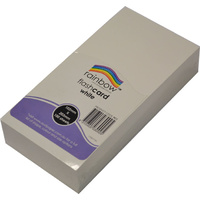Rainbow Flash Card 203 x 102mm 100 Sheets White