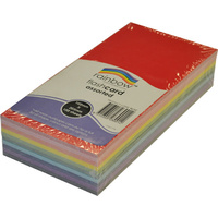 Rainbow Coloured Flash Card 203 x 102mm 100 Sheets