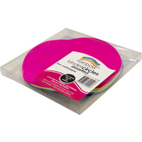 Rainbow Fluro Paper Circles 180mm 100 Sheets