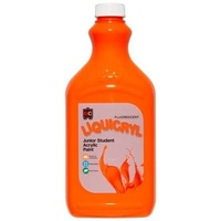 Fluorescent Liquicryl Junior Acrylic Paint Orange 2L