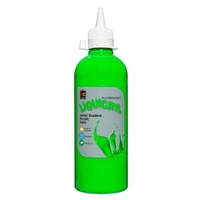 Fluorescent Liquicryl Junior Student Paint Green 500mL