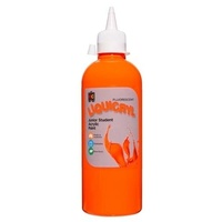 Fluorescent Liquicryl Junior Student Paint Orange 500mL