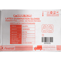 Gloves Latex Powder Free Large Carton 10 x 100's