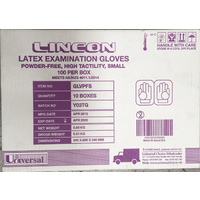 Gloves Latex Powder Free Small Carton 10 x 100's