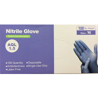 Goldies Nitrile Gloves Medium Carton 10 x 100's (1000)