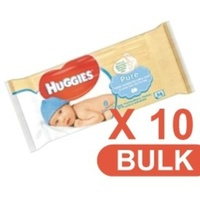Huggies Wipes Pure Carton 10 x 56's