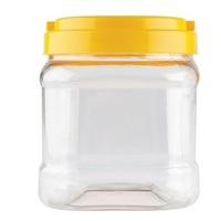 Plastic Jar Yellow Lid 700mL (100 x 135mm)