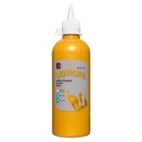 Metallic Liquicryl Junior Student Acrylic Paint Gold 500mL