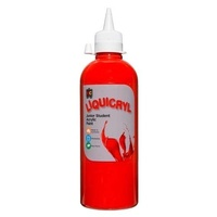Liquicryl Junior Student Acrylic Paint Red 500mL