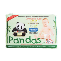 Luv Me Panda Nappies Extra Large 12 - 25KG 36's