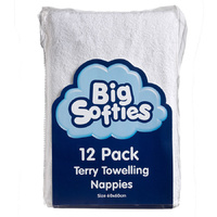 Big Softies Terry Towelling Nappies 12's
