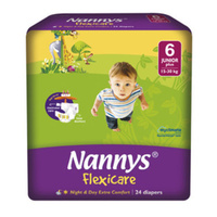Nannys Junior Plus Size 6 (15 - 30KG) 24's
