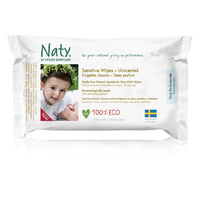 Naty by Nature Eco Sensitive Unscented Wipes 56's