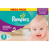 Pampers Active Fit 4 - 9KG 90's Size 3