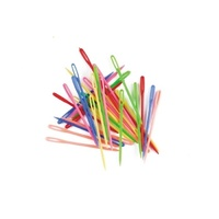 Plastic Needle 75mm Long Multi Coloured Pack of 32