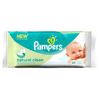 Pampers Wipes Natural Clean Carton 12 x 64's