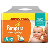 Pampers Simply Dry 4 - 9KG 90's Size 3