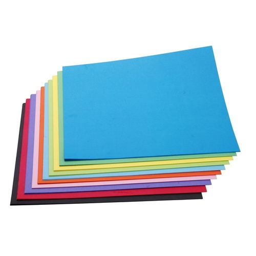 Jasart Art Board 200gsm 510 x 640mm Assorted Colours Pack of 100