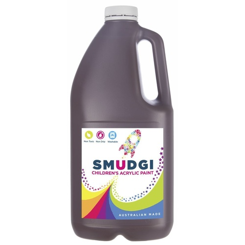 Smudgi Children's Acrylic Paint Brown 2L