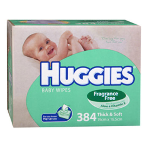 Huggies Wipes Unscented Refill Carton 384's
