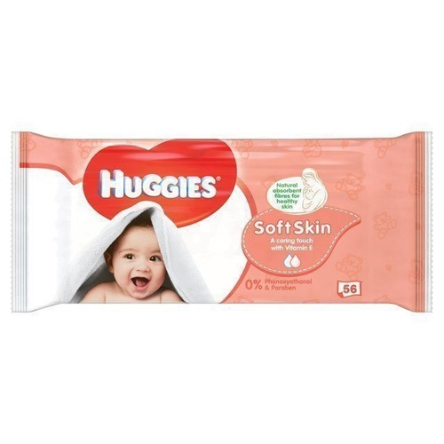 Huggies Wipes Soft Skin 56's