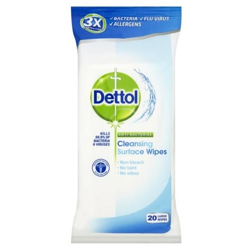 Dettol Anti-Bacterial Cleansing Surface Wipes 20's