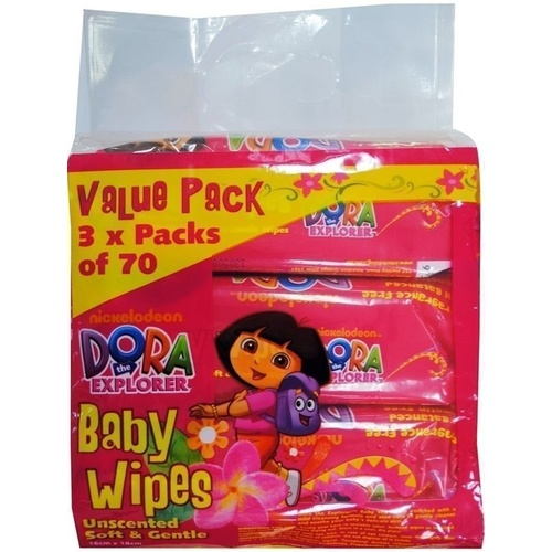 Dora The Explorer Wipes 3 x 70's