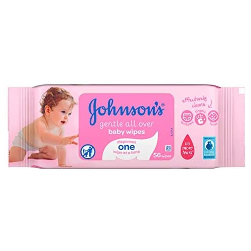 Johnson's Baby Wipes Gentle Cleansing 56's