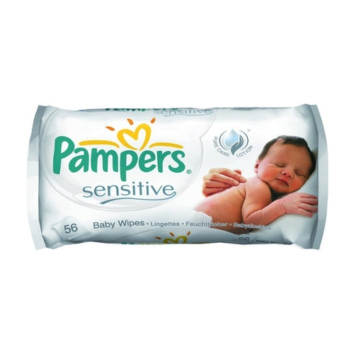 Pampers Wipes Sensitive Carton 12 x 56's
