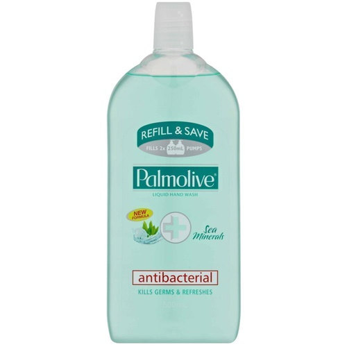 Palmolive Antibacterial Liquid Hand Wash Sea Minerals Refill 500mL