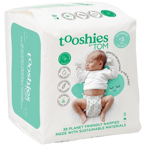 Tooshies By Tom Eco Nappies Newborn <5KG 38's