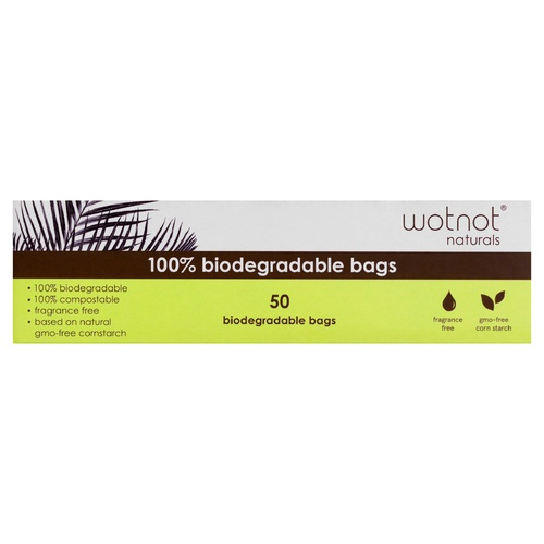 WOTNOT Biodegradable Bags 50's
