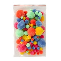 Jasart Neon Colour Pom Poms Pack of 150